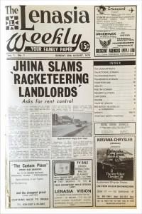 Lenasia Times Aug 1976 Pg 01